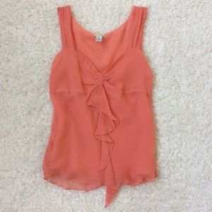 Anthropologie Odille Coral Silk Top Tank Size 8